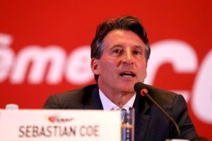 President Sebastian Coe of the International Association of Athletics Federation (IAAF) address the media after a conference about the decision regarding the scandal. Photo credit: Abc.com