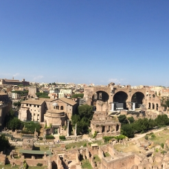 Rome from up town. Roman Forum.