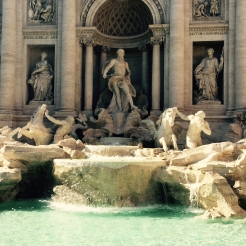 I cried at the Trevi. Definitely started crying when I saw it.