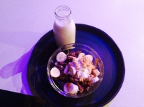 Some interesting food I have had to far. A customized bowl of cereal at Cereal Killer Cafe. Great place the city. Thought I would share with you a couple of foods I have been munching on since I got to Europe.