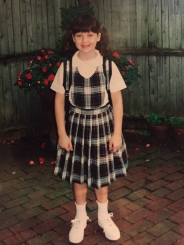 Me on the first day of school in the 90's.